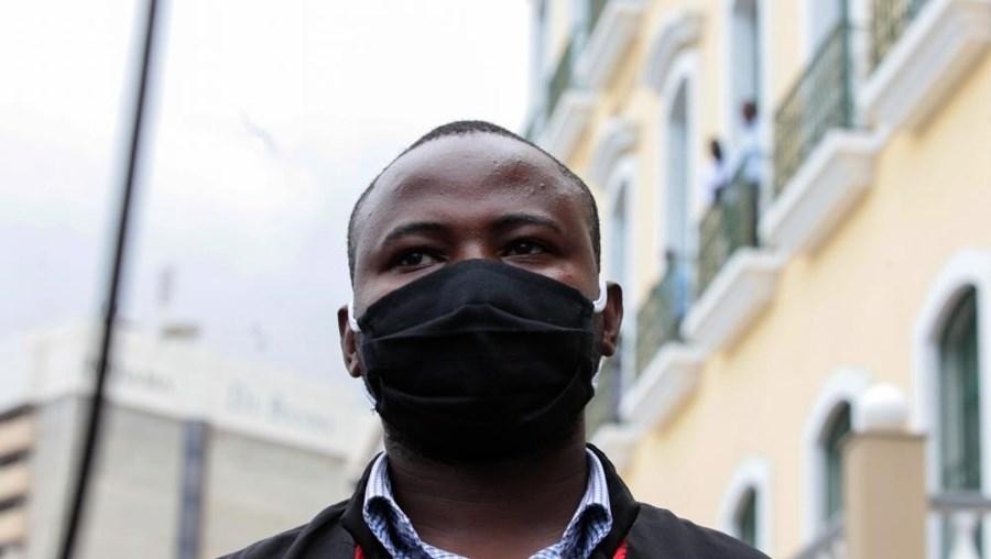 O advogado, Laurindo Fonseca que representa os manifestantes que saíram às ruas de Luanda no sábado,