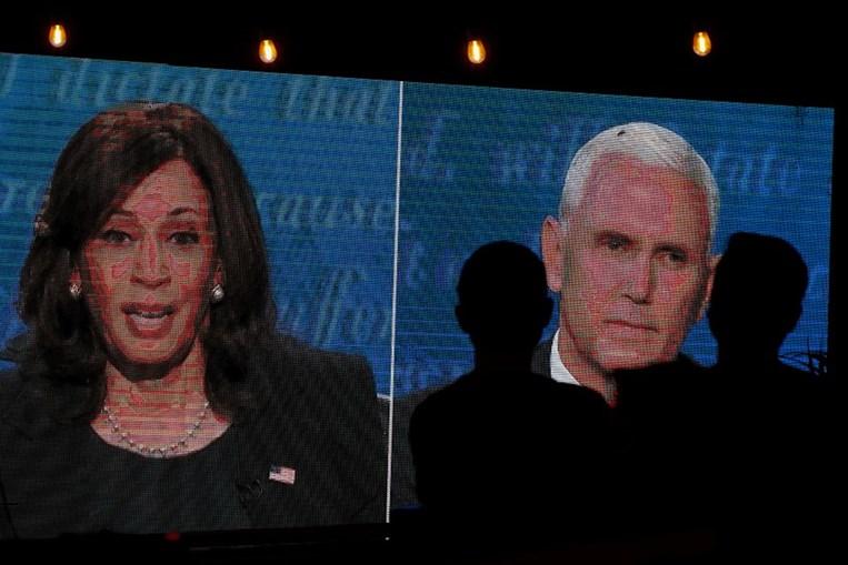 Os candidatos a vice-presidentes dos EUA, Kamala Harris e Mike Pence, estiveram frente a frente na quarta-feira