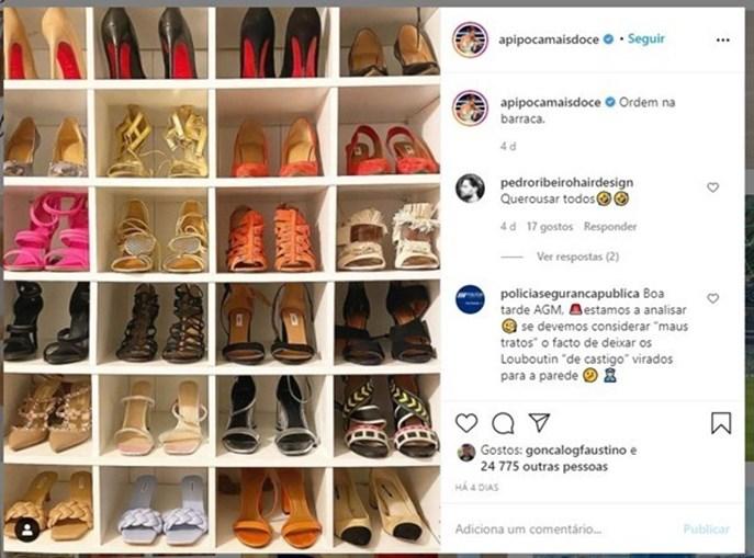 PSP segue a Pipoca Mais Doce no Instagram e faz piadas sobre sapatos Louboutins