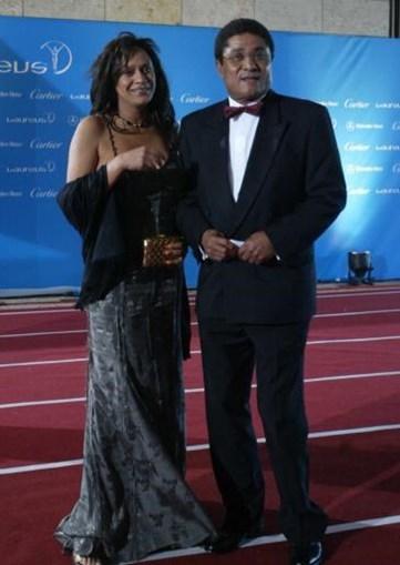Eusébio e a filha Carla Ferreira