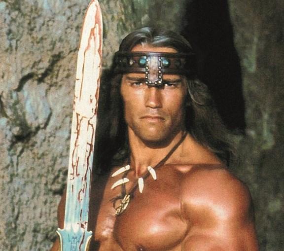 Arnold Schwarzenegger em 'Conan, o Bárbaro'