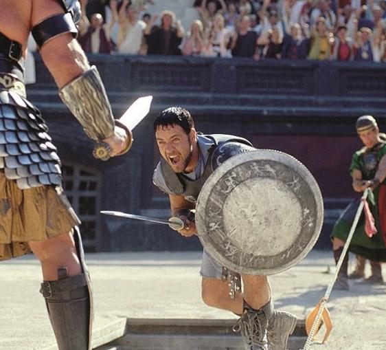 'Gladiador', com Russell Crowe