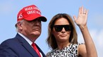 Melania e Donald Trump lado a lado em novo projeto