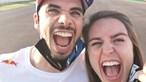 """A emocionada mensagem da namorada de Miguel Oliveira num """"fim de semana indescritível"""""""