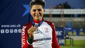 Ciclista Maria Martins conquista medalha de bronze na eliminação dos Europeus de pista