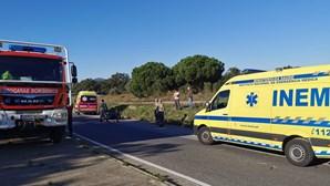 Força despiste de motociclista em Setúbal e foge do local