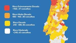 Conheça aqui a lista completa de concelhos e saiba qual o risco na sua zona