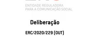 Deliberação ERC/Media Capital