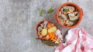Receita de sabores tipicamente portugueses: cozido de grão