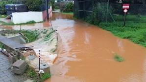 Casas inundadas, ruas e terrenos submersos no Algarve devido ao mau tempo. Veja as imagens