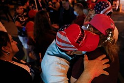 Nas ruas da Flórida celebrou-se a vitória de Donald Trump