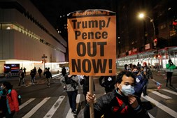 Nova Iorque também foi palco de protestos contra Trump