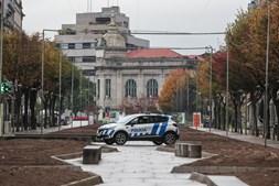 Ruas desertas em Braga devido à regra de permanência em casa no fim de semana