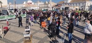 Manifestação 'A Pão e Água' em Faro