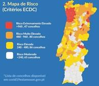 Conheça a lista completa de concelhos e saiba qual o risco na sua zona