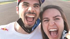 Miguel Oliveira e a namorada, Andreia Pimenta
