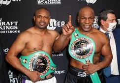 Mike Tyson e Roy Jones Jr. defrontaram-se
