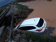 Chuva e mau tempo provocam inundações na Fuzeta em Olhão