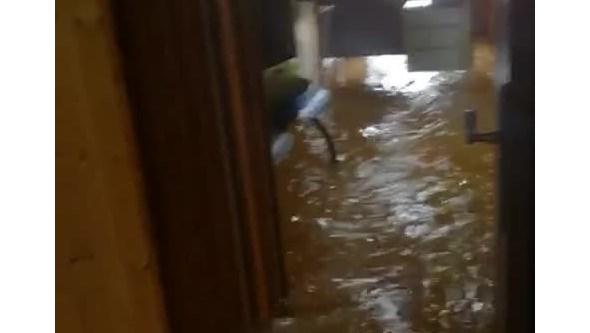 Posto Territorial da GNR de Castro Marim inundado devido ao mau tempo