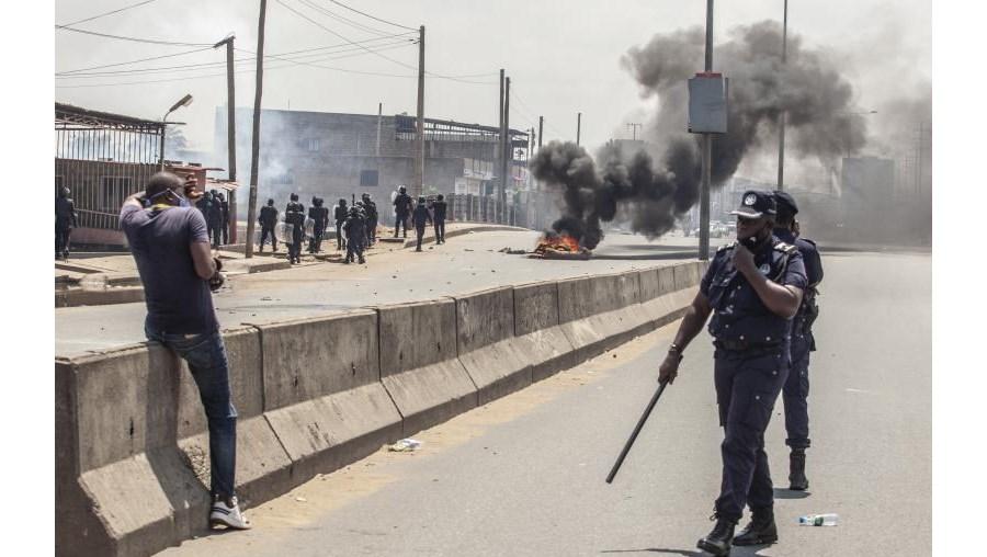 Manifestação Luanda