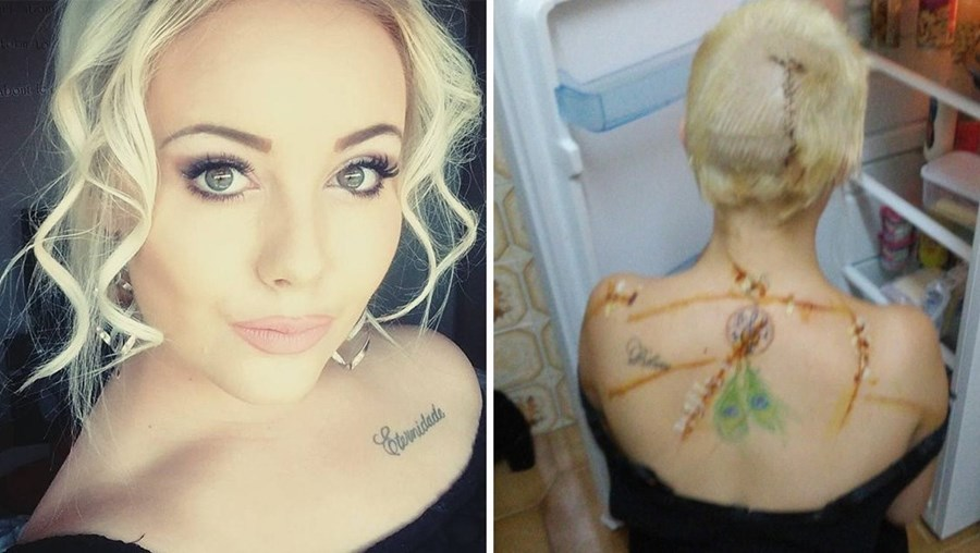Leighanne tinha 18 anos quando foi golpeada com tesoura numa mata