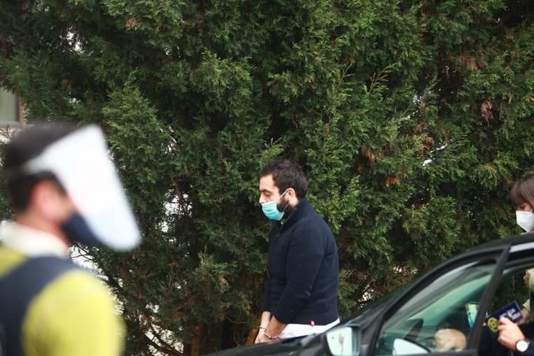 Xavier Damião à chegada ao Tribunal de Torres Vedras