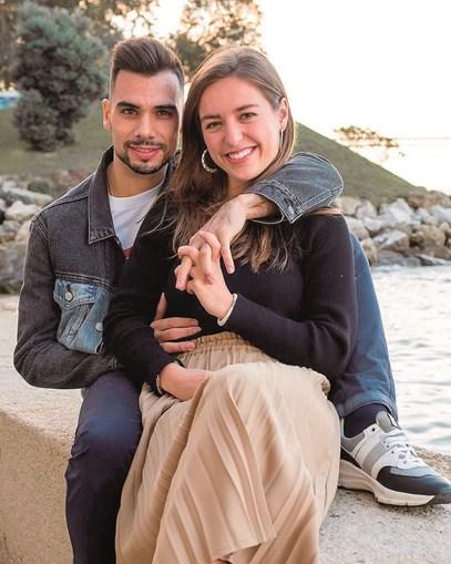 Miguel Oliveira e a namorada Andreia Pimenta