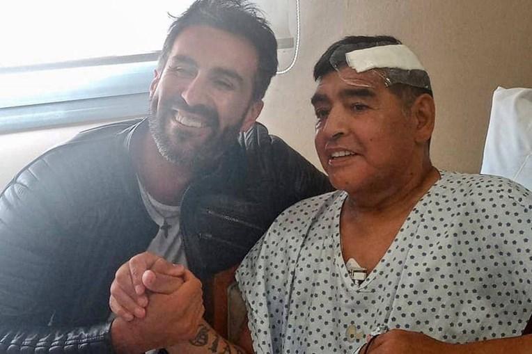 Última foto de Maradona divulgada nas redes sociais