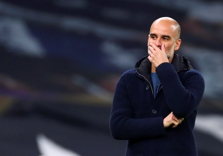 Pep Guardiola treina o  Man. City