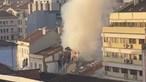 Bombeiros combatem incêndio no centro de Lisboa. Prédio desabou após explosão. Veja as imagens