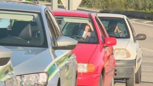 Carros fiscalizados em Viseu em dia de recolher obrigatório