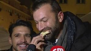Empresários da restauração comem pizza após sete dias de greve de fome. Veja as imagens