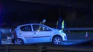 Mulher ferida em acidente com três carros na A5 junto a Oeiras