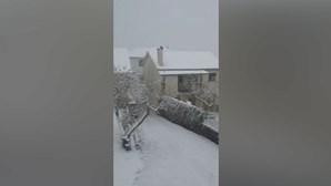 Casas ficaram cobertas de neve em Vila Pouca de Aguiar