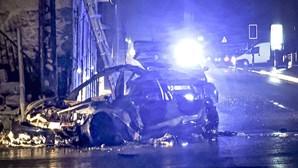 Homem morre carbonizado em despiste de carro elétrico em Felgueiras