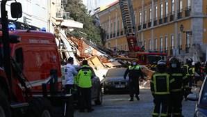 Prédio desaba após explosão no centro de Lisboa. Há cinco feridos e um desaparecido
