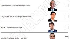 Boletim de voto das presidenciais de 2021