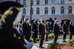 O Presidente da República, Marcelo Rebelo de Sousa, participa nas Comemorações do 1.º de Dezembro - Cerimónia de Homenagem aos Heróis da Restauração e da Guerra da Aclamação, na Praça dos Restauradores, em Lisboa, 1 de dezembro de 2020