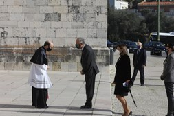 Marcelo Rebelo de Sousa à chegada ao Mosteiro dos Jerónimos para a missa de corpo presente de Eduardo Lourenço