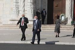 Ministro dos Negócios Estrangeiros, Augusto Santos Silva, à saída da igreja dos Jerónimos