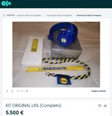 'Kit original Lidl' à venda por 5500 euros