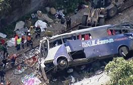 Queda de autocarro de viaduto no estado brasileiro de Minas Gerais