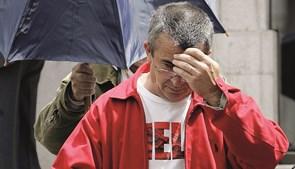 Franklim Lobo, em 2008, à entrada do tribunal da Boa-Hora, em Lisboa