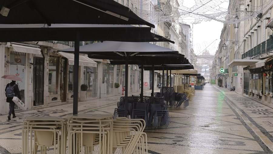 Lisboa deserta durante confinamento