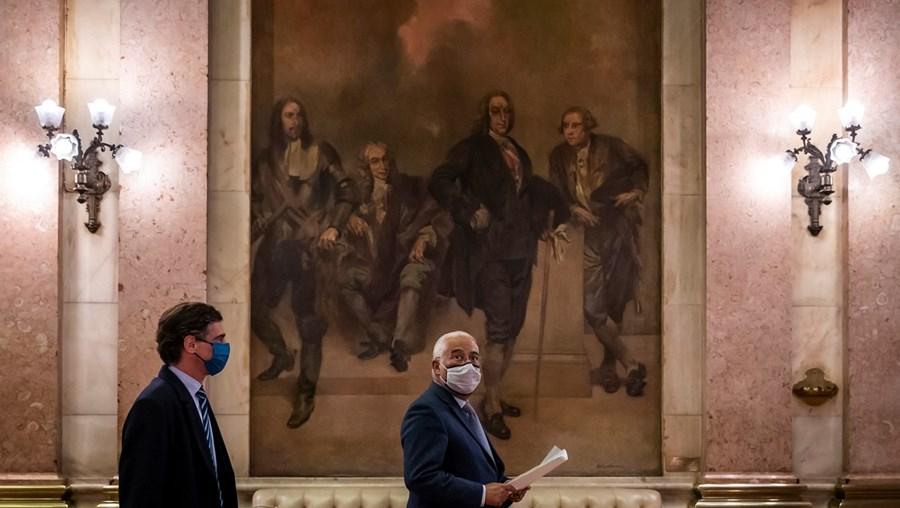 Primeiro-ministro , António Costa, esteve ontem no Parlamento para preparar a próxima reunião do Conselho Europeu