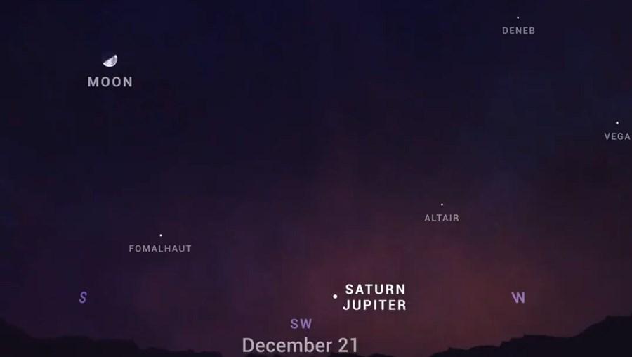 Júpiter e Saturno vão alinhar-se e a 'Estrela de Belém' vai ser vista nos céus 800 anos depois