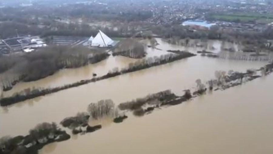 Bedford inundada