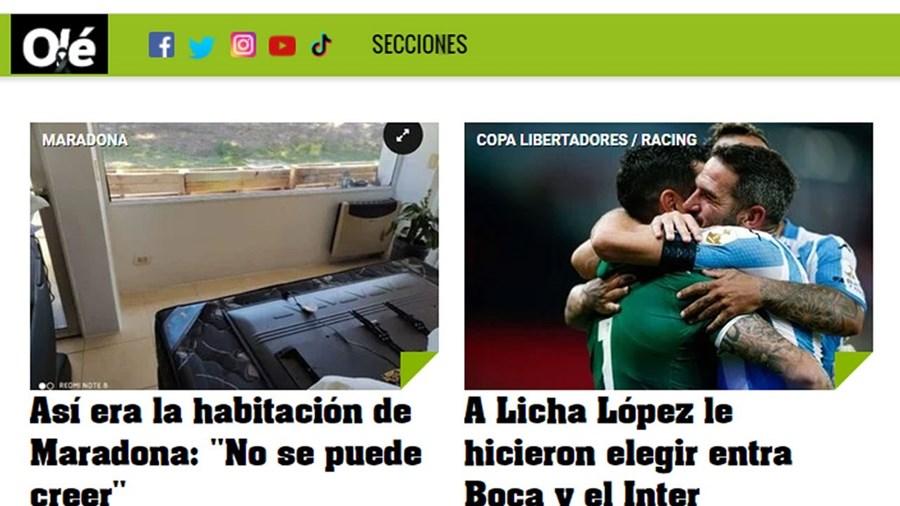 Imagem partilhada pela imprensa argentina