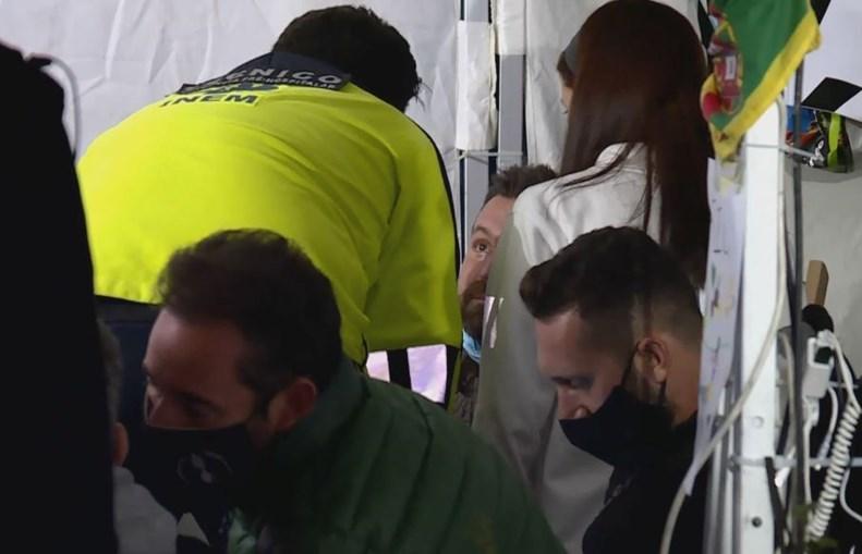 Chef Ljubomir sente-se mal durante greve de fome e é assistido pelo INEM