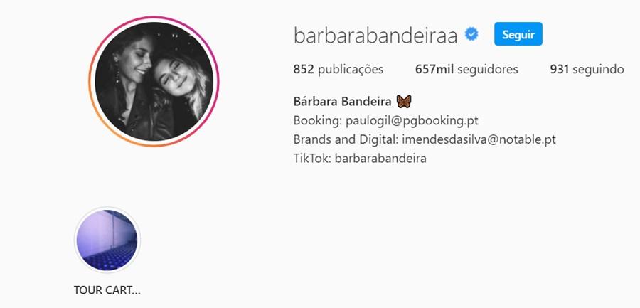 Bárbara Bandeira mudou foto de perfil